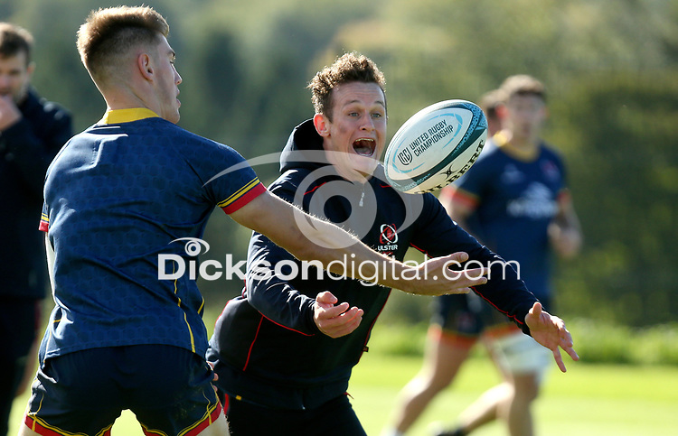 Tuesday 5th October 2021<br /> <br /> Billy Burns during Ulster Rugby training at Newforge Country Club, Belfast, Northern Ireland. Photo by John Dickson/Dicksondigital