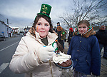 Abigail Harrington didn't feel the cold as she tucked into her ice cream at the St Patrick's Day parade in Scariff. Photograph by John Kelly.
