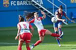 Liga IBERDROLA 2020-2021. Jornada: 10<br /> FC Barcelona vs Santa Teresa: 9-0.<br /> Marta Parralejo vs Jennifer Hermoso.