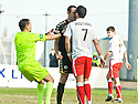 10/04/2010   Copyright  Pic : James Stewart.sct_jsp23_falkirk_v_st_mirren  .::  REFEREE DOUGIE MCDONLAD STEPS IN TO SEPARATE JOHN POTTER AND PEDRO MOUTINHO AFTER POTTER ACCUSED PEDRO MOUTINHO OF DIVING TO GET THE FOUL THAT LED TO FALKIRK'S FIRST ::  .James Stewart Photography 19 Carronlea Drive, Falkirk. FK2 8DN      Vat Reg No. 607 6932 25.Telephone      : +44 (0)1324 570291 .Mobile              : +44 (0)7721 416997.E-mail  :  jim@jspa.co.uk.If you require further information then contact Jim Stewart on any of the numbers above.........