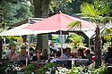 21/08/16 - AIX LES BAINS - SAVOIE - FRANCE - Terrasse d ete au Parc thermal d Aix les Bains - Photo Jerome CHABANNE