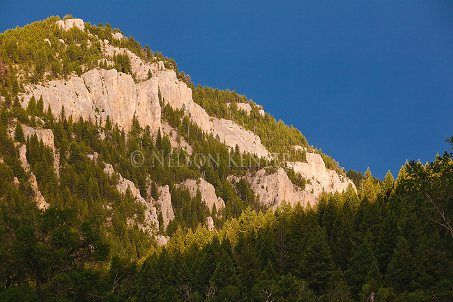 A rocky hill along the Smith River in Montana