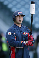 Nobuhiko Matsunaka of Japan during World Baseball Championship at Angel Stadium in Anaheim,California on March 15, 2006. Photo by Larry Goren/Four Seam Images