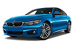 Stock pictures of low aggressive front three quarter view of 2017 BMW 4 Series Gran Coupe M Sport 5 Door Hatchback