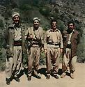 Iraq 1979.At the border of Iran, from left to right Aref Taifour, Johar Namek, Sami Abdul Rahman and Failak Eddine Kakai  Irak 1979. Sur la frontiere iranienne, de gauche a droite, Aref Taifour, Johar Namek, Sami Abdul Rahman et Failak Eddine Kakai