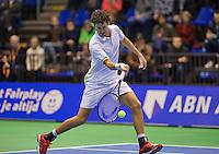 Rotterdam, Netherlands, December 20, 2015,  Topsport Centrum, Lotto NK Tennis, Final mens single Robin Haase (NED)<br /> Photo: Tennisimages/Henk Koster
