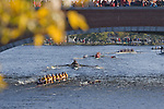 Boston, Rowers, 2006 Head of the Charles Regatta, Cambridge, Massachusetts, USA., Master Eights Men, [40+], Rowers beneath Eliot Bridge, Saturday October 21, 2006