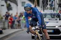 Eduardo Affini (ITA/Jumbo-Visma)<br /> <br /> 88th UCI Road World Championships 2021 – ITT (WC)<br /> Men's Elite Time trial from Knokke-Heist to Brugge (43.3km)<br /> <br /> ©Kramon