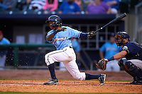 NW Arkansas Naturals outfielder Terrance Gore (3) at bat during a game against the San Antonio Missions on May 30, 2015 at Arvest Ballpark in Springdale, Arkansas.  San Antonio defeated NW Arkansas 5-2.  (Mike Janes/Four Seam Images)