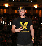 "Roddy Kennedy from the 'Hamilton' cast during a Q & A before The Rockefeller Foundation and The Gilder Lehrman Institute of American History sponsored High School student #EduHam matinee performance of ""Hamilton"" at the Richard Rodgers Theatre on June 6, 2018 in New York City."