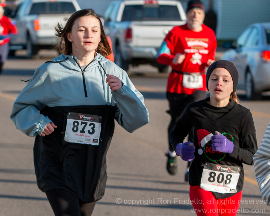 The 2019 Barnesville Santa's Spirit Sprint walk/run, Barnesville, Ohio December 7, 2019.