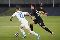 Leroy Sane (Deutschland Germany) gegen Arnor Traustason (Island Iceland) - 25.03.2021: WM-Qualifikationsspiel Deutschland gegen Island, Schauinsland Arena Duisburg