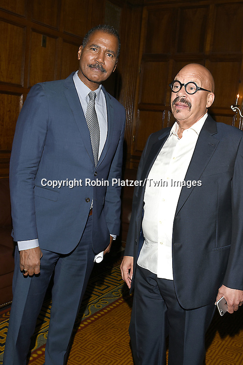 Bill Whitaker and honoree Tom Joyner attends the Library of American Broadcasting  Annual Giants of Broadcasting Luncheon on October 6, 2016 at Gotham Hall in New York City. <br /> <br /> photo by Robin Platzer/Twin Images<br />  <br /> phone number 212-935-0770