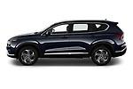 Car Driver side profile view of a 2021 Hyundai Santa-FE SEL 5 Door SUV Side View
