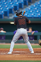 Rene Lastres (85) of Miami Christian School in Hialeah Gardens, FL playing for the San Francisco Giants scout team during the East Coast Pro Showcase at the Hoover Met Complex on August 2, 2020 in Hoover, AL. (Brian Westerholt/Four Seam Images)