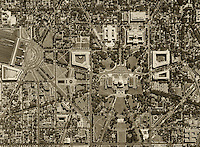 historical aerial photograph United States Capitol Washington, DC, 1951