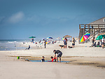Cape San Blas beach activity.