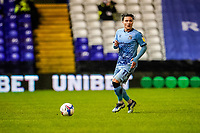 17th February 2021; St Andrews Stadium, Coventry, West Midlands, England; English Football League Championship Football, Coventry City v Norwich City; Callum O'Hare of Coventry City looks up for before passing the ball