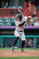 Altoona Curve Mitchell Tolman (19) at bat during an Eastern League game against the Erie SeaWolves on June 5, 2019 at UPMC Park in Erie, Pennsylvania.  Altoona defeated Erie 6-2.  (Mike Janes/Four Seam Images)