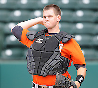 Catcher Tommy Joseph (33) of the Augusta GreenJackets, Class A affiliate of the San Francisco Giants, in a game against the Greenville Drive on May 20, 2010, at Fluor Field at the West End in Greenville, S.C. Joseph was a 2009 second-round draft pick. He was named to the 2010 South Atlantic League All-Star team. Photo by: Tom Priddy/Four Seam Images
