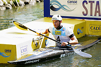 04th September 2021; Parc Olimpic del Segre, La Seu D'Urgell ICF Slalom World Cup, men's Kayak Final;  Winner of the event, Vit Prindis (CZE)