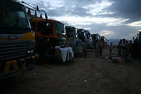 The trucks arrive in Tarin Kot and park out side the Dutch military base and wait until they can unload their fuel inside the deopt. Sometimes they have to wait up to 10 days before they can do the returnn journey to Kandahar