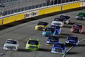 #40: Ross Chastain, Niece Motorsports, Chevrolet Silverado Niece, #88: Matt Crafton, ThorSport Racing, Ford F-150 Damp Rid / Menards and #16: Austin Hill, Hattori Racing Enterprises, Toyota Tundra United Rentals