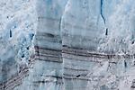 Striations in Surprise Glacier in Prince William Sound, Alaska