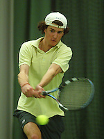 10-3-06, Netherlands, tennis, Rotterdam, National indoor junior tennis championchips, Gerard ter Woorst