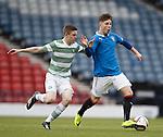 Rangers Josh Jeffries with Celtic's Daniel Church
