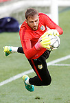 Atletico de Madrid's Jan Oblak during Champions League 2015/2016 training session. May 27,2016. (ALTERPHOTOS/Acero)