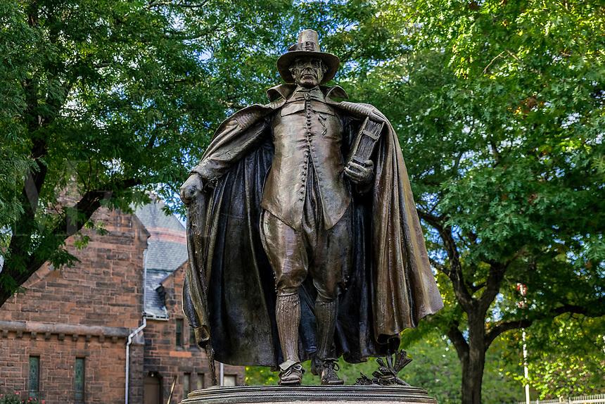 The Puritan Statue in Springfield Massachusetts, USA.