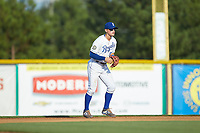 Burlington Royals second baseman Michael Massey (6) on defense against the Danville Braves at Burlington Athletic Stadium on July 13, 2019 in Burlington, North Carolina. The Royals defeated the Braves 5-2. (Brian Westerholt/Four Seam Images)