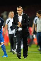 Vardan MINASYAN Coach Armenia <br /> Napoli 15-10-2013 Stadio San Paolo <br /> Football Calcio Fifa World Cup 2014 Qualifiers <br /> Europe Group B <br /> Italia - Armenia <br /> Italy - Armenia <br /> Foto Andrea Staccioli Insidefoto