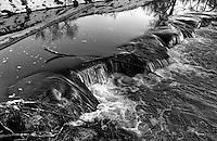 Bear Creek and the Colorado River, Colorado (Black & White)