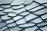 Switzerland, Canton Valais, near Leuk: roofing shingles (detail) | Schweiz, Kanton Wallis, bei Leuk: Dachschindeln (Detail)