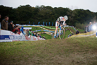 19 yr old Mathieu Vanderpoel (NLD/BKCP-Powerplus) riding a strong 2nd in the Elite Mens Race<br /> <br /> GP Mario De Clercq 2014<br /> Hotond Cross<br /> CX BPost Bank Trofee - Ronse