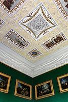 Stuck-Decke im Wörlitzer Schloss, Parkanlage Wörlitzer Garten, Sachsen-Anhalt, Deutschland, Europa, UNESCO-Weltkulturerbe<br /> stuccoed ceiling in Wörlitz Palace, Wörlitz Gardens, Saxony-Anhalt, Germany, Europe, UNESCO-World Heritage