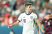 DENVER, CO - JUNE 6: Christian Pulisic #10 of the United States during a game between Mexico and USMNT at Mile High on June 6, 2021 in Denver, Colorado.