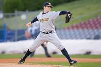 Starting pitcher Eric Hacker (28) of the Trenton Thunder in action versus the Connecticut Defenders at Dodd Stadium in Norwich, CT, Tuesday, June 3, 2008.