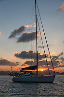 Sunset view from Caneel Bay Resort<br /> St. John<br /> U.S. Virgin Islands