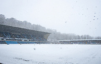 Adam Park Stadium in snow ahead of upcoming FA Cup match Wycombe Wanderers v Tottenham Hotspur - Snow and bad weather hits High Wycombe during the  at  on the 24 January 2021. Photo by Andy Rowland.