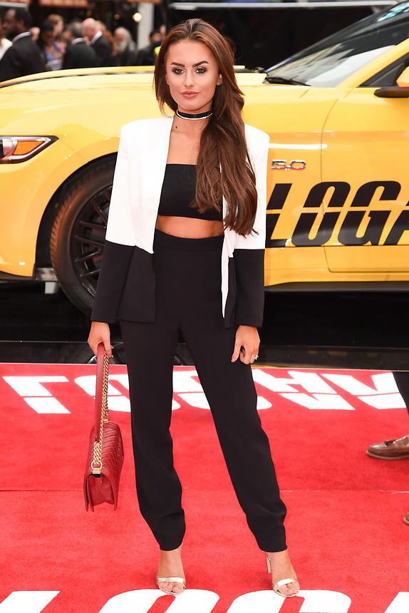 """Amber Davies<br /> attending the premiere of """"Logan Lucky"""" at the Vue West End, Leicester Square, London. <br /> <br /> <br /> ©Ash Knotek  D3295  21/08/2017"""