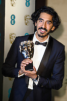 Dev Patel<br /> at the 2017 BAFTA Film Awards After-Party held at the Grosvenor House Hotel, London.<br /> <br /> <br /> ©Ash Knotek  D3226  12/02/2017