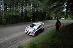 14th September 2012 - Devils Bridge - Mid Wales : WRC Wales Rally GB SS6 Myherin stage : Martin Prokop (CZE) and Zdenek Hruza (CZE) in their Ford Fiesta RS WRC.