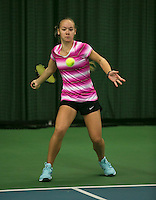 Rotterdam, The Netherlands, 15.03.2014. NOJK 14 and 18 years ,National Indoor Juniors Championships of 2014, Judith van Kessel (NED)<br /> Photo:Tennisimages/Henk Koster