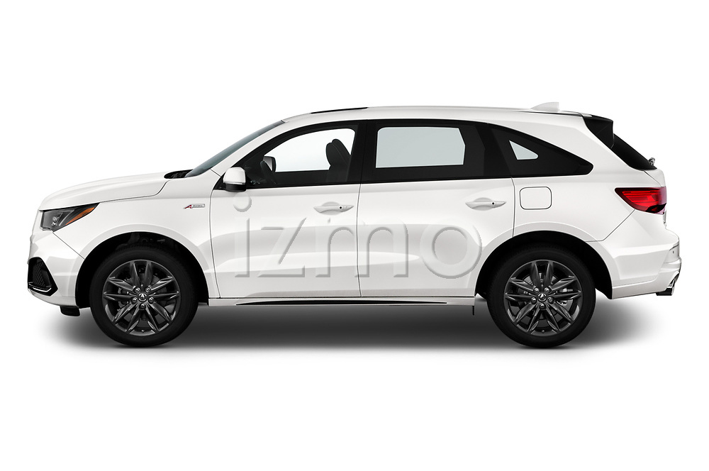 Driver side profile view of a 2019 Acura MDX A Spec 5 Door SUV