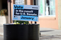 COLLEGE PARK, GA - JANUARY 5: Vote sign in downtown Atlanta during the Georgia Senate runoff races on January 5, 2021 in College Park, Georgia. <br /> CAP/MP34<br /> ©MPI34/Capital Pictures
