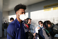 WIENER NEUSTADT, AUSTRIA - MARCH 25: Antonee Robinson #5 of the United States before a game between Jamaica and USMNT at Stadion Wiener Neustadt on March 25, 2021 in Wiener Neustadt, Austria.