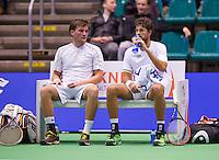 December 17, 2014, Rotterdam, Topsport Centrum, Lotto NK Tennis, Doubles, Robin Haase and Roy de Valk (L)<br /> Photo: Tennisimages/Henk Koster